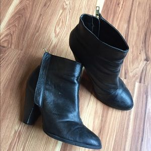 Qupid Black Ankle Boots [222]